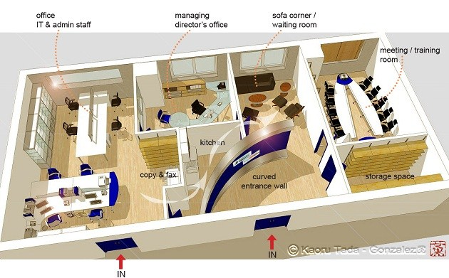 Office Layout Design Project Management Nagoya Japan